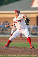 June 27th, 2007:  Wayne Daman of the Batavia Muckdogs, Short-Season Class-A affiliate of the St. Louis Cardinals at Dwyer Stadium in Batavia, NY.  Photo by:  Mike Janes/Four Seam Images