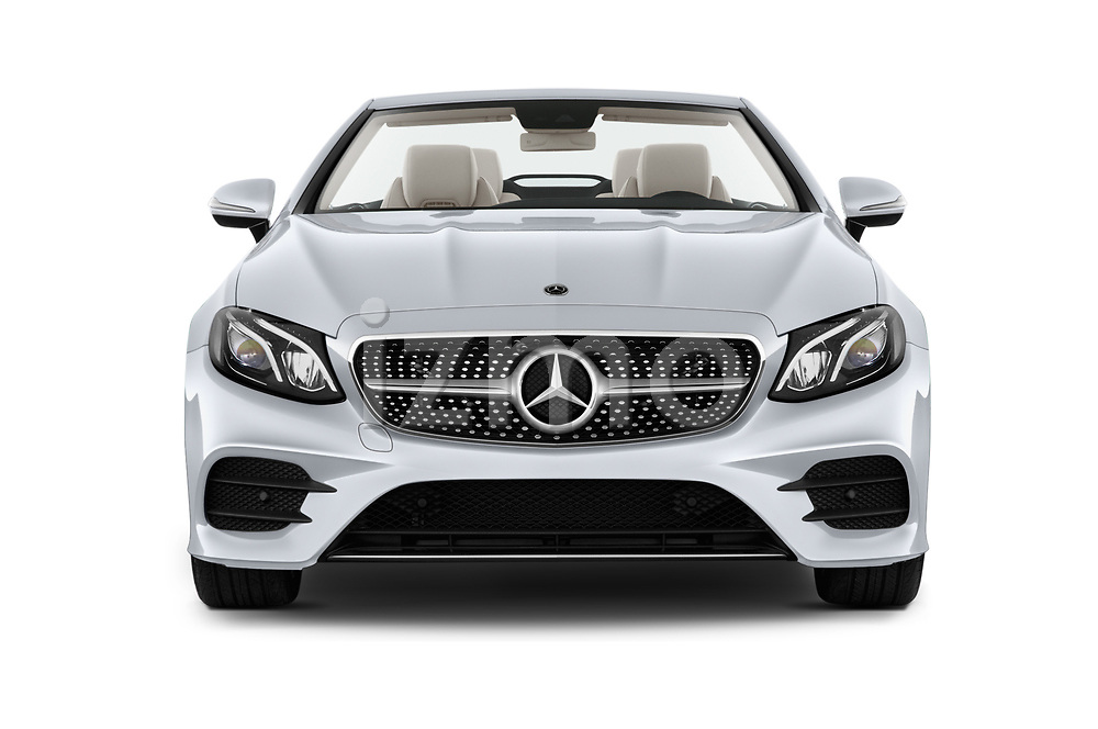 Car photography straight front view of a 2018 Mercedes Benz E Class Base 2 Door Convertible