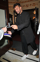 Ricky Martin at the &quot;The Entertainer&quot; press night performance, Garrick Theatre, Charing Cross Road, London, England, UK, on Tuesday 30 August 2016.<br /> CAP/CAN<br /> &copy;CAN/Capital Pictures /MediaPunch ***NORTH AND SOUTH AMERICAS ONLY***
