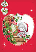 Sharon, CHRISTMAS ANIMALS, WEIHNACHTEN TIERE, NAVIDAD ANIMALES, GBSS, paintings+++++,GBSSC50XFC11,#XA#
