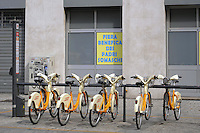 - Milan, bicycle parking for the &quot; bike sharing &quot;<br /> <br /> - Milano, parcheggio biciclette del &quot; bike sharing &quot;
