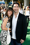 """WESTWOOD, CA. - October 26: Zoe Buckman and actor David Schwimmer arrive at the premiere of Dreamworks' """"Madagascar: Escape 2 Africa"""" at the Mann Village Theater on October 26, 2008 in Los Angeles, California."""