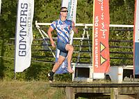 FIERLJEPPEN: BUITENPOST: 27-07-2018, Nard Brandsma wint met 18.90 meter, ©foto Martin de Jong