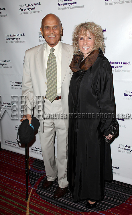 Harry Belafonte & wife Pamela.attending the Actors Fund Gala honoring Harry Belafonte, Jerry Stiller, Anne Meara & David Steiner at the Mariott Marquis Hotel in New York City on 5/21/12