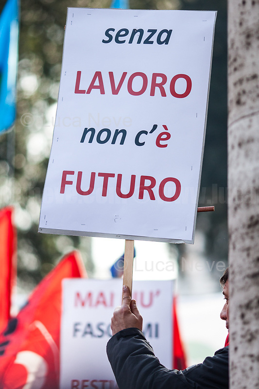 "Unknown, Protester, ""Without Work There Is No Future"".<br />