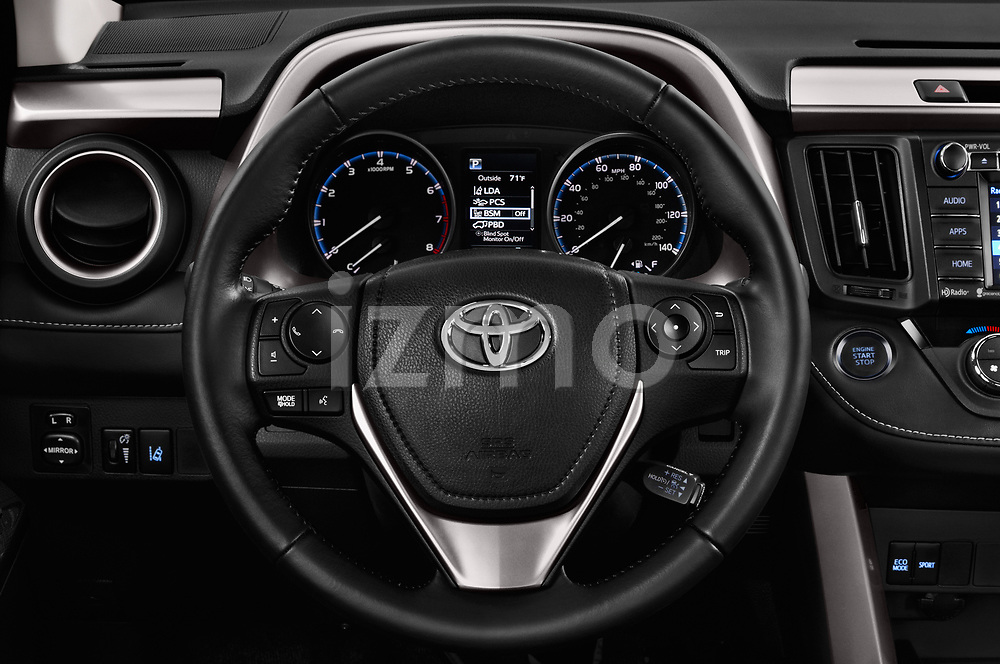 Car pictures of steering wheel view of a 2018 Toyota RAV4 Adventure 5 Door SUV