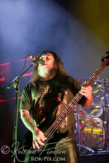 Slayer performs at the 2012 Rockstar Energy Drink Mayhem Festival, Comcast Center, Mansfield, Massachusetts, August 3, 2012