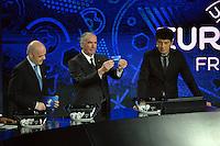 23.02.2013. Nice, France. UEFA Drawing fo the 2016 UEFA EURO Championships. Vitor Baia, Rinat Dasaev