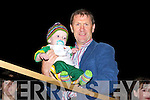 Kerry manager Jack O'Connor with baby Sam Kelly Glenbeigh at the Sam Maguire homecoming in Glenbeigh on Tuesday night