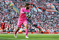 Liverpool's Alisson Becker<br /> <br /> Photographer Rich Linley/CameraSport<br /> <br /> The Premier League - Liverpool v Wolverhampton Wanderers - Sunday 12th May 2019 - Anfield - Liverpool<br /> <br /> World Copyright © 2019 CameraSport. All rights reserved. 43 Linden Ave. Countesthorpe. Leicester. England. LE8 5PG - Tel: +44 (0) 116 277 4147 - admin@camerasport.com - www.camerasport.com