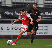 Fleetwood Town's Ashley Nadesan battles with Sunderland's Alim Ozturk<br /> <br /> Photographer Dave Howarth/CameraSport<br /> <br /> The EFL Sky Bet League One - Fleetwood Town v Sunderland - Tuesday 30th April 2019 - Highbury Stadium - Fleetwood<br /> <br /> World Copyright © 2019 CameraSport. All rights reserved. 43 Linden Ave. Countesthorpe. Leicester. England. LE8 5PG - Tel: +44 (0) 116 277 4147 - admin@camerasport.com - www.camerasport.com