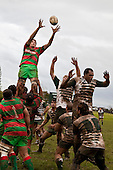 Tony Misa takes easy lineout ball. Counties Manukau Premier Semi-final rugby game between Manurew & Waiuku, played at Mountfort Park Manaurewa on Saturday 1st of August 2009..Waiuku won 23 - 3 and will meet Patumahoe in the final next week at Growers Stadium.