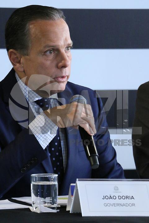SÃO PAULO, SP, 31.01.2019: POLÍTICA-SP: João Doria, Governador de São Paulo, apresenta o balanço completo das operações São Paulo Mais Seguro e Rodovia Mais Segura, nesta quinta-feira, 31. ( Foto: Charles Sholl/Brazil Photo Press)