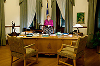 PQ leader and Quebec Premier Pauline Marois poses at her office in Quebec City Thursday November 15, 2012. The PQ is on track to deliver a Fall budget, soon after the September 4 election.<br /> <br /> PHOTO :  Francis Vachon - Agence Quebec Presse