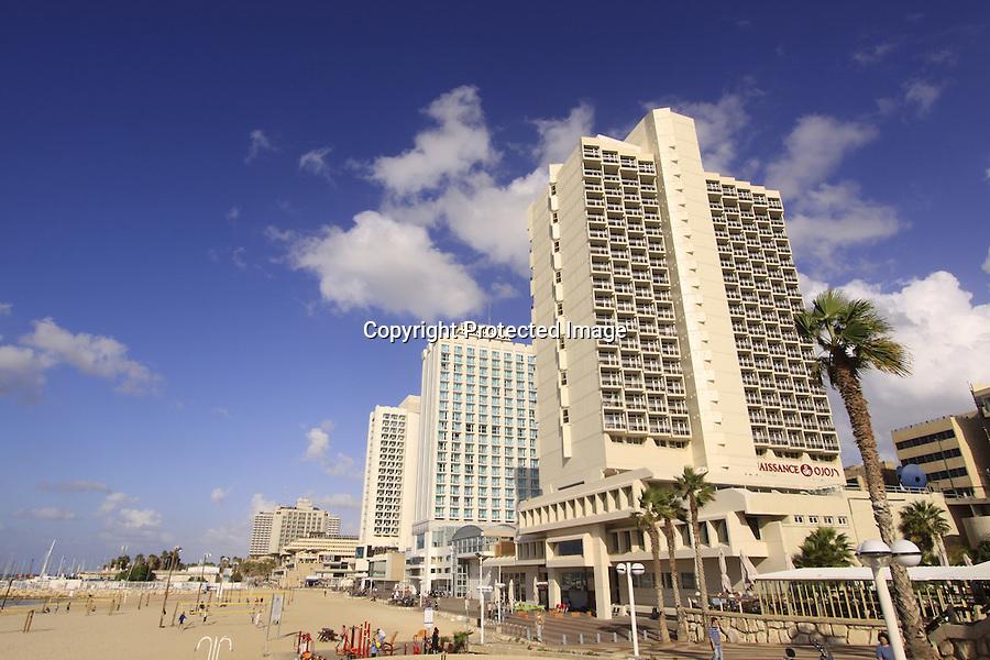 Israel, beachfront hotels in Tel Aviv