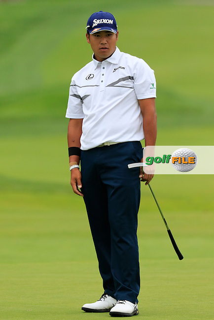 Hideki Matsuyama (JPN) putts on the 2nd green during Friday's Round 1 of the 2016 U.S. Open Championship held at Oakmont Country Club, Oakmont, Pittsburgh, Pennsylvania, United States of America. 17th June 2016.<br /> Picture: Eoin Clarke | Golffile<br /> <br /> <br /> All photos usage must carry mandatory copyright credit (&copy; Golffile | Eoin Clarke)