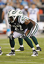 BART SCOTT, of the New York Jets in action during the Jets game against the Carolina Panthers  at Bank of America Stadium in Charlotte, N.C.  on August 21, 2010.  The Jets beat the Panthters 9-3 in the second week of preseason games...