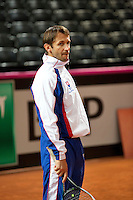 Februari 04, 2015, Apeldoorn, Omnisport, Fed Cup, Netherlands-Slovakia,  Captain Matej Lipták (SLO)<br /> Photo: Tennisimages/Henk Koster