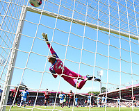 Harry Wilson of AFC Bournemouth scores from a free kick past Manchester City keeper Ederson  during  during AFC Bournemouth vs Manchester City, Premier League Football at the Vitality Stadium on 25th August 2019