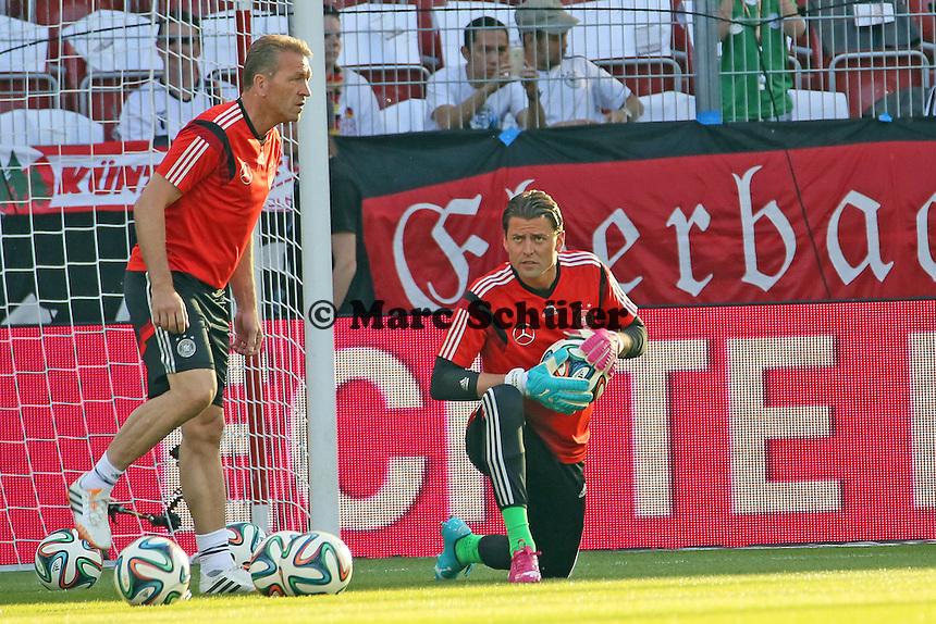 Torwarttrainer Andreas Köpke und Roman Weidenfeller (D) - Deutschland vs. Armenien in Mainz
