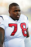 1 November 2009: Houston Texans' offensive tackle Rashad Butler watches from the bench during the fourth quarter of a game against the Buffalo Bills at Ralph Wilson Stadium in Orchard Park, New York, USA. The Texans defeated the Bills 31-10. Mandatory Credit: Ed Wolfstein Photo
