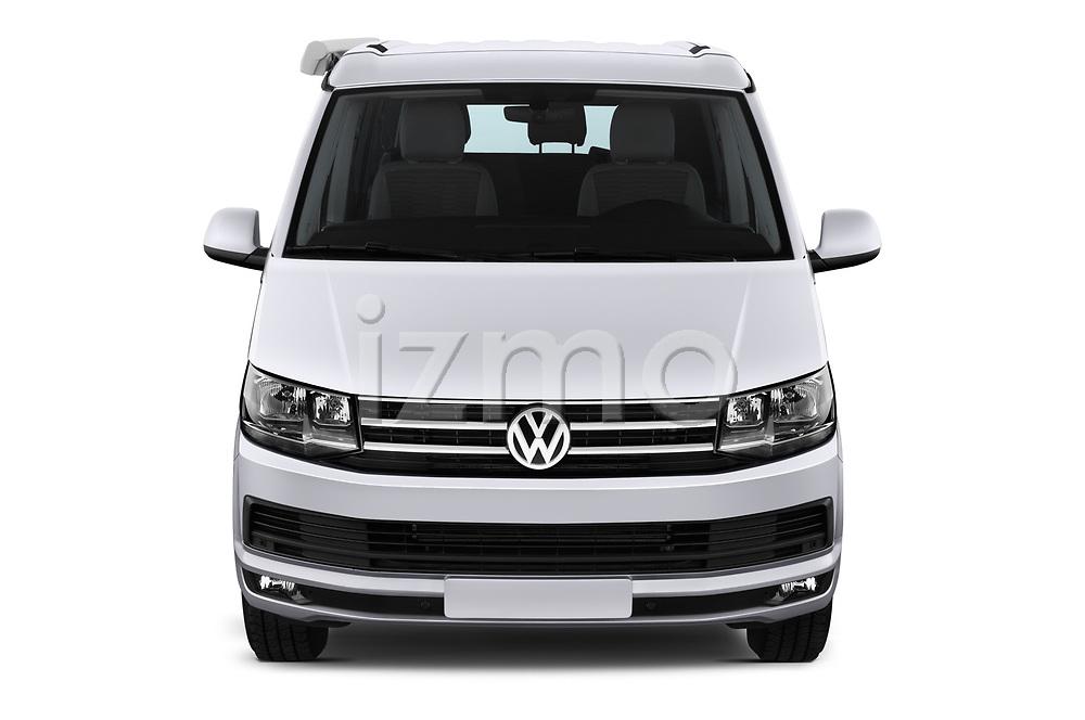 Car photography straight front view of a 2018 Volkswagen California Ocean 4 Door Passenger Van