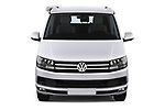 Car photography straight front view of a 2018 Volkswagen California Ocean 4 Door Passenger Van