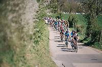 peloton up La Redoute<br /> <br /> 82nd Fl&egrave;che Wallonne 2018 (1.UWT)<br /> 1 Day Race: Seraing - Huy (198km)