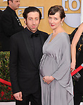 Simon Helberg, Jocelyn Towne attends The 20th SAG Awards held at The Shrine Auditorium in Los Angeles, California on January 18,2014                                                                               © 2014 Hollywood Press Agency