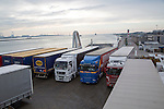 Lorries on Stena Lines ferry, Port of Rotterdam, Hook of Holland, Netherlands