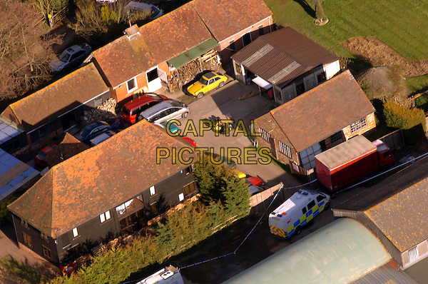 JOHN FOWLER'S HOME .An aerial view over the home of John Fowler - one of the suspects involved in the Securitas trial - in Staplehurst, Kent, England, UK, 1st March 2006..house crime GV General View G.V. atmosphere Elderden Farm.CAP/FIN.©Steve Finn/Capital Pictures.