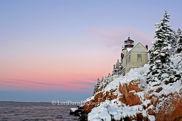 Early Winter Morning, Bass Harbor Light  #LH45