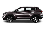 Car driver side profile view of a 2018 Hyundai Tucson Executive 5 Door SUV