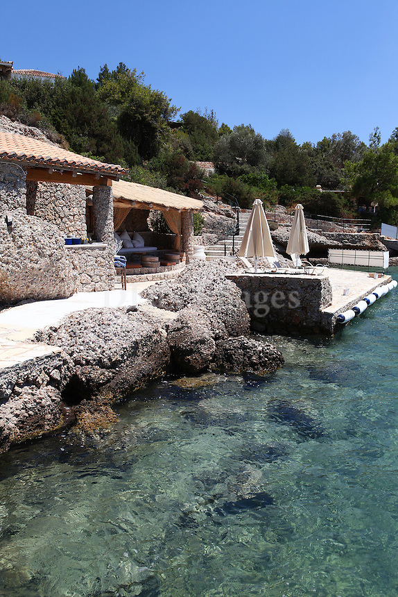 stone house next to the sea