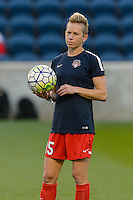 Chicago, IL - Saturday Sept. 24, 2016: Joanna Lohman prior to a regular season National Women's Soccer League (NWSL) match between the Chicago Red Stars and the Washington Spirit at Toyota Park.