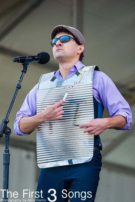 Michael Early of Flow Tribe performs during the New Orleans Jazz & Heritage Festival in New Orleans, LA.