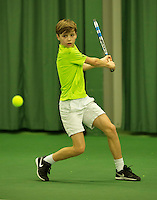 Rotterdam, The Netherlands, March 18, 2016,  TV Victoria, NOJK 14/18 years, Thomas Verhoeven (NED)<br /> Photo: Tennisimages/Henk Koster