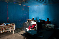 Internet cafe in Kabaya, Rwanda. (Photo by Tadej Znidarcic)
