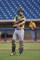 Tom Gavitt (33) of the AZL Athletics in the field during a game against the AZL Brewers at Maryvale Baseball Park on June 30, 2015 in Phoenix, Arizona. Brewers defeated Athletics, 4-2. (Larry Goren/Four Seam Images)
