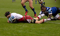 Northampton Saints' Cobus Reinacht scores his side's first try<br /> <br /> Photographer Bob Bradford/CameraSport<br /> <br /> Gallagher Premiership - Bath Rugby v Northampton Saints - Saturday 22 September 2018 - The Recreation Ground - Bath<br /> <br /> World Copyright &copy; 2018 CameraSport. All rights reserved. 43 Linden Ave. Countesthorpe. Leicester. England. LE8 5PG - Tel: +44 (0) 116 277 4147 - admin@camerasport.com - www.camerasport.com