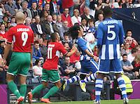 Men's Olympic Football match Honduras v Morocco on 26.7.12...During the Honduras v Morocco Men's Olympic Football match at Hampden Park, Glasgow................
