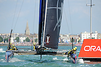 Artemis Racing, JULY 23, 2016 - Sailing: Artemis Racing rounds the mark during day one of the Louis Vuitton America's Cup World Series racing, Portsmouth, United Kingdom. (Photo by Rob Munro/Stewart Communications)