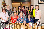Kim Pryal from Castleisland celebrating her Hen Night with friends from the Bon Secours Hospital at Bella Bia's on Friday.  Marrying T.J. Casey from Castleisland on the 6th of February. Pictured l-r Mary Roche, Kim Pryal, Bernie Murphy, Back l-r Mags Hogan, Cara Flahive, Catriona O'Donnell, Margaret Foley, Geraldine O'Brien, Leyla Leahy, Niamh O'Donnell, Katie Tansley