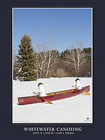 """This is a 18"""" x 24"""" poster design that features Dawn and Gary's whimsical photograph, """"Whitewater Canoeing"""". The canoeing snowpeople and scene were created following late-April snowfalls in Minnesota.<br /> <br /> The poster reads, """"Whitewater Canoeing by Gary L. Fiedler and Dawn M. LaPointe"""".<br /> <br /> The larger logo  that appears in the bottom right is our website watermark and will not appear on the printed poster. However, our smaller, attractive logo does appear in one of the corners of the printed poster.<br /> <br /> High quality, 18"""" x 24"""" poster printed on 100 lb. glossy paper, $24.95 each (plus tax, if applicable). Shipped Standard USPS, rolled in square cardboard tube. $5.00 total shipping on poster orders sent to the same single address, whether 1 poster or 100 posters. (If flat shipping is desired, contact us prior to ordering. The shipping fee will be higher.) To place a wholesale order, please contact us."""