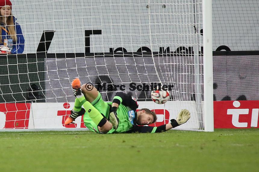 Stefan Aigner (Eintracht) erzielt das 1:1, Oliver Baumann (Hoffenheim) machtlos - TSG 1899 Hoffenheim vs. Eintracht Frankfurt, WIRSOL Neckar Arena Sinsheim