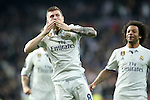 Real Madrid's Toni Kroos (l) and Marcelo Vieira celebrate goal during Champions League 2016/2017 Round of 16 1st leg match. February 15,2017. (ALTERPHOTOS/Acero)