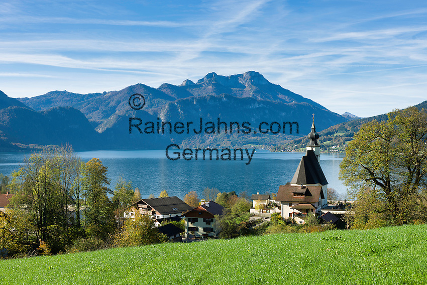 Austria, Upper Austria, Salzkammergut, Steinbach at lake Attersee   Oesterreich, Salzkammergut, Steinbach am Attersee