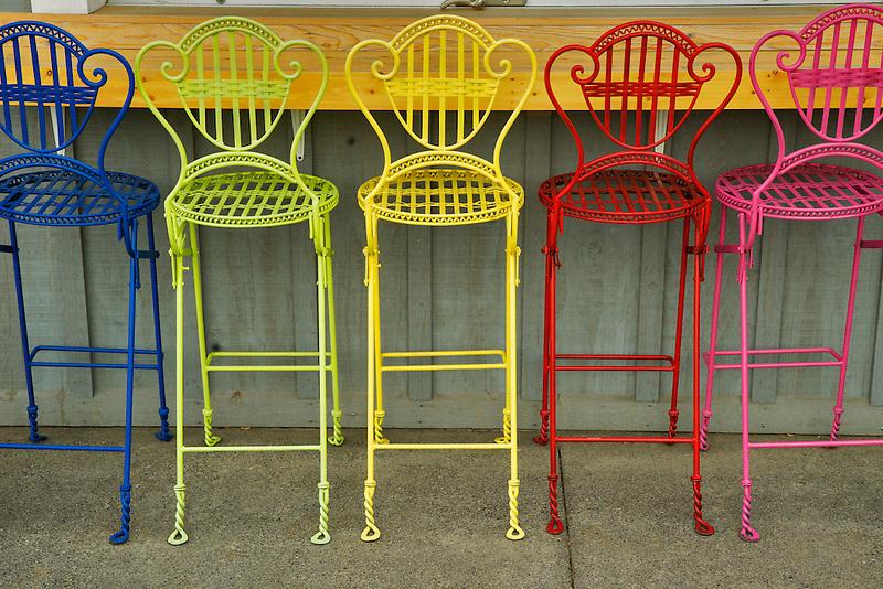 Colorful chairs. Joseph, Oregon