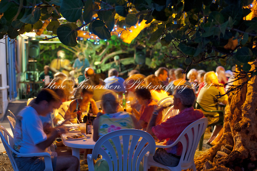 Miss Lucy's Restaurant.Full  Moon Party / Pig Roast.St John, Virgin Islands
