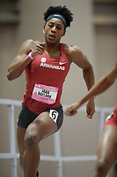 NWA Democrat-Gazette/ANDY SHUPE<br /> Arkansas' Jada Baylark competes Saturday, Feb. 9, 2019, in the 200 meters during the Tyson Invitational in the Randal Tyson Track Center in Fayetteville. Visit nwadg.com/photos to see more photographs from the meet.